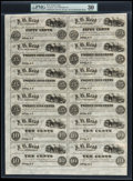 Obsoletes By State:New York, Utica, NY- J.B. Read 50¢ (2)-25¢ (6)-10¢ (4) Uncut Sheet. ...