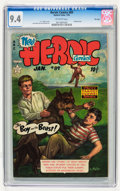 Golden Age (1938-1955):War, Heroic Comics #89 File Copy (Eastern Color, 1954) CGC NM 9.4Off-white pages....