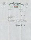 Baseball Collectibles:Others, 1931 Rogers Hornsby Typed Signed Letter....