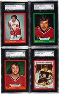 Hockey Cards:Lots, 1973-74 O-Pee-Chee SGC Graded Cards Lot of (4)....