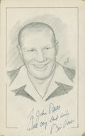 "Baseball Collectibles:Others, Bill Veeck Signed Original Artwork ""Raitt Collection""...."
