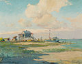 Texas:Early Texas Art - Regionalists, PAUL RICHARD SCHUMANN (American, 1876-1946). Seascape. Oilon board. 13-1/2 x 17-1/2 inches (34.3 x 44.5 cm). Signed low...