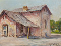 Texas:Early Texas Art - Regionalists, ROLLA SIMS TAYLOR (American, 1872-1970). Country Home. Oilon board. 9 x 12 inches (22.9 x 30.5 cm). Signed lower right:...