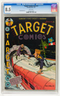 Golden Age (1938-1955):Superhero, Target Comics V2#11 (Novelty Press, 1942) CGC VF+ 8.5 White pages. ...
