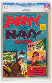 Army and Navy Comics #1 (Street & Smith, 1941) CGC FN 6.0 Off-white to white pages