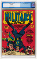 Golden Age (1938-1955):War, Military Comics #4 (Quality, 1941) CGC FN- 5.5 Off-white to whitepages....