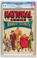 Golden Age (1938-1955):Miscellaneous, National Comics #50 Rockford pedigree (Quality, 1945) CGC NM 9.4 Off-white pages....