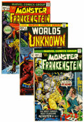 Bronze Age (1970-1979):Horror, Frankenstein/Worlds Unknown Group (Marvel, 1973-74) Condition:Average FN.... (Total: 19 Comic Books)