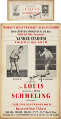 Boxing Collectibles:Autographs, Max Schmeling Signed Replica Poster and Flyer Lot of 2....