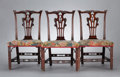 Furniture , A SET OF SIX GEORGE III MAHOGANY SIDE CHAIRS . probably London, England, circa 1770. Unmarked. 37-1/8 x 22-1/2 x 21-3/4 inch... (Total: 6 Items)