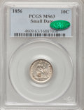 Seated Dimes: , 1856 10C Small Date MS63 PCGS. CAC. PCGS Population (22/46). NGCCensus: (36/56). Mintage: 5,780,000. Numismedia Wsl. Price...