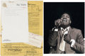 Music Memorabilia:Autographs and Signed Items, Otis Redding Signed Contract with Photo.... (Total: 2 Items)
