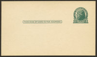 1¢ Green on Gray, Die I (UX27C)