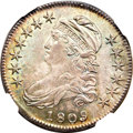 Bust Half Dollars, 1809 50C Normal Edge MS65 NGC....