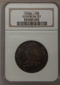 Bust Half Dollars: , 1808 50C AU53 NGC. O-107A. NGC Census: (34/171). PCGS Population(33/151). Mintage: 1,368,600. Numismedia Wsl. Price for p...