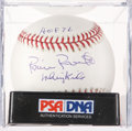 Baseball Collectibles:Balls, Robin Roberts Single Signed Baseball PSA Mint 9....