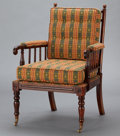 Furniture , A VICTORIAN SPINDLE ARMCHAIR . England, circa 1890. Unmarked. 38-1/2 x 26-1/4 x 27 inches (97.8 x 66.7 x 68.6 cm). ...