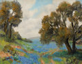 Paintings, LOIS DENTON (American, 1887-1980). Bluebonnets. Oil on canvasboard. 22 x 28 inches (55.9 x 71.1 cm). Signed lower left: ...