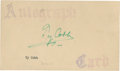 Baseball Collectibles:Others, 1953 Ty Cobb Signed Government Postcard....