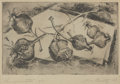 Texas:Early Texas Art - Drawings & Prints, LIA CUILTY (American, 20th Century). Pomegranates, 1956.Etching on paper. 12 x 14-3/4 inches (30.5 x 37.5 cm). Ed. 5/15...