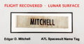 "Transportation:Space Exploration, Apollo 14 Lunar Surface Worn ""MITCHELL"" Spacesuit Name Tag,Originally from the Personal Collection of Mission Lunar ModulePi..."