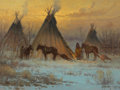 Paintings, G. (GERALD HARVEY JONES) HARVEY (American, b. 1933). A Time of Peace, 1977. Oil on canvas. 9 x 12 inches (22.9 x 30.5 cm...