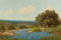Texas:Early Texas Art - Regionalists, PALMER CHRISMAN (American, 1913-1984). Bluebonnets. Oil oncanvas. 24 x 36 inches (61.0 x 91.4 cm). Signed lower left: ...