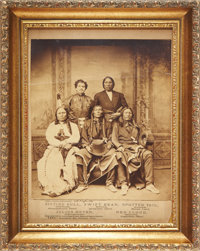 Sitting Bull, Red Cloud, Swift Bear, and Spotted Tail: Extremely Rare and Important Early Large Format Photo