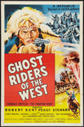 """Movie Posters:Serial, Ghost Riders of the West (Republic, R-1954). One Sheet (27"""" X 41""""). Serial.. ..."""