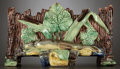 Ceramics & Porcelain, A FRENCH PALISSY WARE JARDINIÈRE . Probably Tours, France, circa 1870. Unmarked. 6-3/4 inches high (17.1 cm). ...