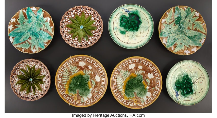 FOUR PAIRS OF MAJOLICA DESSERT PLATES . Villeroy & | Lot #69048 ...