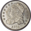 Bust Dimes, 1834 10C Small 4 MS64 PCGS....