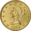 Liberty Eagles, 1853/2 $10 AU55 PCGS....