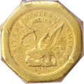 Territorial Gold, 1851 $50 LE Humbert Fifty Dollar, 887 Thous. 50 Rev.--ASSAYER Inverted--VF35 PCGS. ...