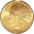 Indian Eagles, 1914 $10 MS65 PCGS....