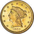 Liberty Quarter Eagles, 1859 $2 1/2 New Reverse, Type Two MS66 PCGS....