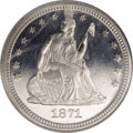 Proof Seated Quarters, 1871 25C PR65 Cameo NGC....