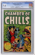 Golden Age (1938-1955):Horror, Chamber of Chills #21 (#1) (Harvey, 1951) CGC FN/VF 7.0 Cream tooff-white pages....