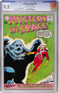 Silver Age (1956-1969):Science Fiction, Mystery in Space #64 (DC, 1960) CGC NM- 9.2 Off-white to white pages....