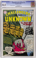 Silver Age (1956-1969):Science Fiction, Challengers of the Unknown #10 (DC, 1959) CGC VF+ 8.5 Off-white to white pages....