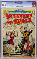 Golden Age (1938-1955):Science Fiction, Mystery in Space #9 (DC, 1952) CGC VF+ 8.5 Off-white pages....