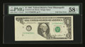 Error Notes:Foldovers, Fr. 1913-I $1 1985 Federal Reserve Note. PMG Choice About Unc 58EPQ.. ...