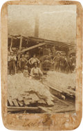 Photography:Cabinet Photos, D. W. Earl & Co. Forwarding and Commission Merchants,Tuscarora, Nevada Lumber Mill Cabinet Card, Circa 1889....
