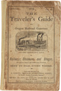 Western Expansion:Goldrush, 1872 The Traveler's Guide and Oregon Railroad Gazetteer....