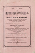 Western Expansion:Goldrush, Royal Arch Masons: 1872 By-Laws, Silver City, Idaho Territory....