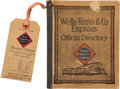 Miscellaneous:Catalogs, 1914 Wells Fargo & Company Express Official Directory....