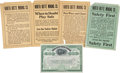 Western Expansion:Goldrush, North Butte Mining Company Safety Broadsides and Stock Certificate,Circa 1900.... (Total: 5 Items)