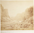 "Transportation:Railroad, Charles Savage, Photographer: ""Palisades. Humboldt River. Nevada."",Circa 1868...."