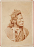 "Photography:Cabinet Photos, General Custer's Crow Scout ""Curley"" (Ashishishe) Cabinet Card...."