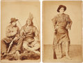 Photography:Cabinet Photos, John Durfey, Frontiersman and Indian Fighter: Pair of CabinetPhotographs....